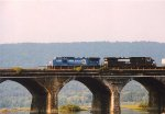 NS 8-40CW 8428 & NS 9-40CW 9319 cross the Rockville Bridge