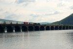 An NS Intermodal Crosses the Rockville Bridge