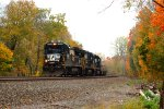 NS B32-8 3561 leads 34J  on the Chicago Line