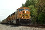 BNSF SD70MAC 9924 leads 667