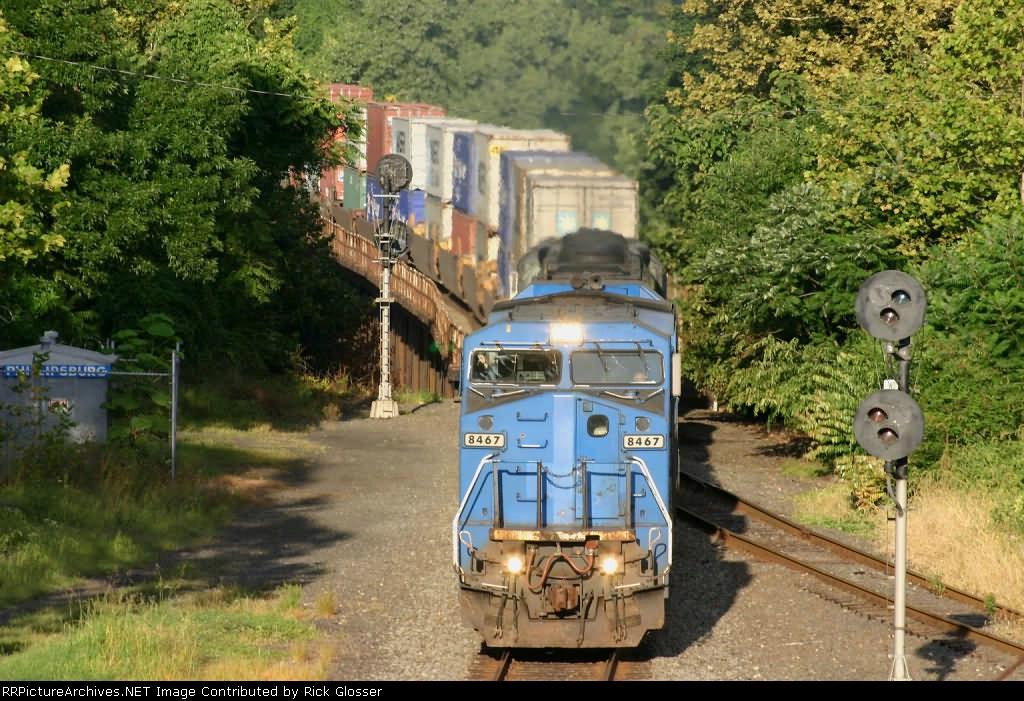 Three Former LMS/ Conrail Units Power EB 24Z @ 0745 hrs.