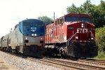 CP AC44CW 8505 & Amtrak P42 95