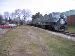B- View of Santa Train and Depot