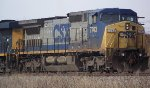 CSX 7743 leads the way into Vauces