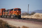 BNSF 6604 leads a Hot Z out of Los Angeles, Ca into the BNSF Barstow yard for a crew change and continue east towards Chicago, Il.