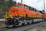 BNSF 6611 waits to Head east as the 3d unit in a consist of 3 Very Brand New ES44C4's on the Z PTL-CHI.