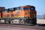BNSF 6617 heads westbound as the rearmost DPU on this Z-Train.