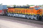 A Very, Very Brand New BNSF 6648 less than 10 days old rolls west as a rear DPU with her sister BNSF 6650 as the rearmost DPU.