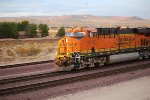 BNSF 6613 heads west into the setting California sun as she pulls a Z-Train.
