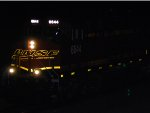 BNSF 6644 heads west in this close up night flash shot.