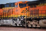 BNSF 6644  close up shot as she rolls eastbound with a Z.