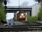 CSX SD40-3 4000 leads Q237 out of Kayne Avenue yard bound for Chattanooga