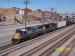 CSX 8595 leads southbound train 678