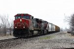 CN 2608, northbound CN train M33571-18