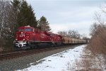 CP 8846 - Southbound Grain Train - Stony Hollw Rd