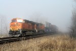 Another BNSF Stack Thru the Fog