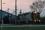 CSX 2785 at twilight - Zionsville industrial track