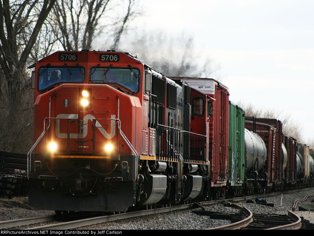 CN 5706 North on the J