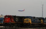 Repainted CN Dash-8, CSX and Southwest Airlines