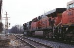 NS 9380 and BNSF 6162