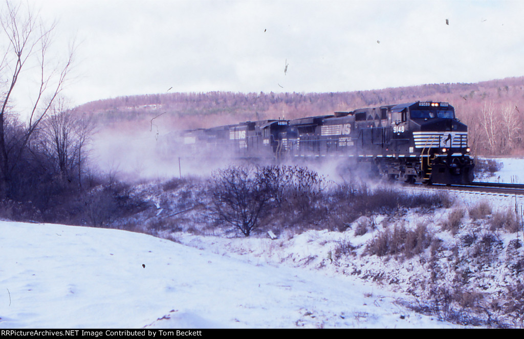 Eastbound in the snow