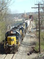 Q361 heads up the hill