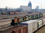 """060304005 Older power stored at BNSF Northtown """"T"""" Yard"""