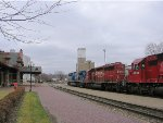 060401014 Westbound CP train passes depot