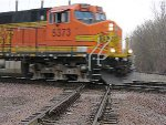 060411015 Westbound BNSF manifest crosses Park Junction diamond