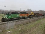 060411021 Westbound BNSF manifest passes Bandana Square