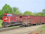 060508005 Westbound CP ballast train meets eastbound CP Manifest