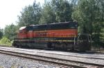 BNSF 7031 sits at yard on 5-18-06 in Gordon