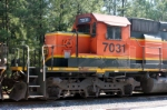 BNSF 7031 short hood end detail shot
