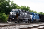 NS 3030 is leading train out of Macon yard on 5-18-06