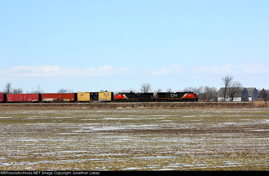 An eastbound heads for Port Huron