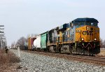 CSX 5351 leads Q334 into the siding