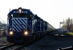 All 5 of GLC's new GP38-2's lead a 92 car grain train south