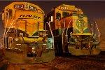 BNSF 8-40B 8613 & GP38-2 2012