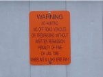 W&LE Warning Sign