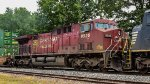 CP 8525 / AC44CW is the 3rd engine on a south bound intermodal train