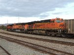 BNSF 6124 & 5939 / ES44AC & 9137 / SD70ACe pulling a coal train