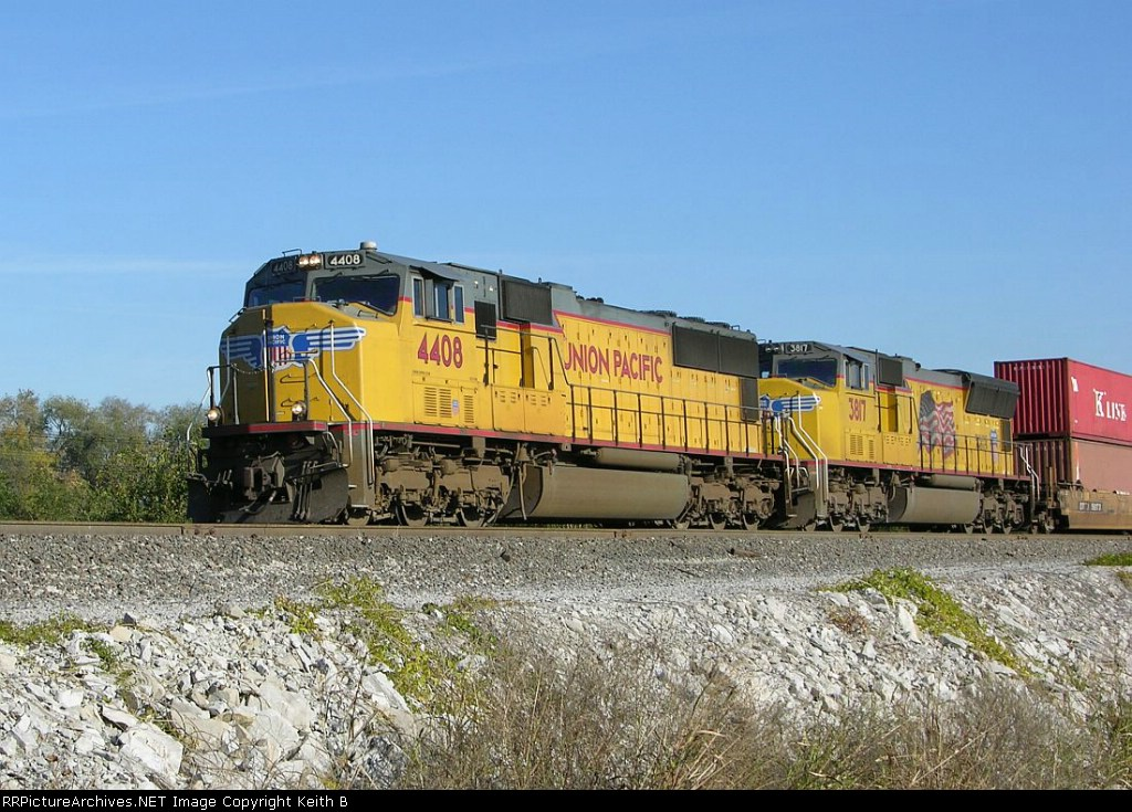UP 4408 and 3817