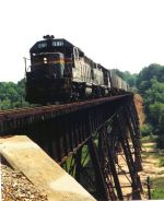 Crossing the chick springs high trestle