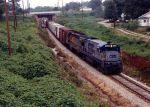 CSX B30-7 Leads this P&N train to Belton