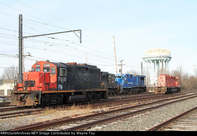 Pennsylvania Northeastern GP9RM PN 7010 and some of the other PN locomotives
