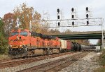 K493-26 WB on the Old Main Line with BNSF power