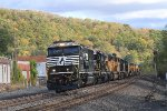 NS Westbound power movement with 7 SD9043MAC's