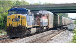 Q217-12 with BC Rail C40-8M 4606 trailing