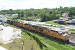 Q235-07 with UP/UP/BNSF/CSX and B&O caboose