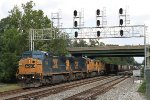 Q341-09 with two CREX C40-8 lease units trailing